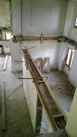 Vue du 1er étage - Tous les planchers en bois ont été enlevés